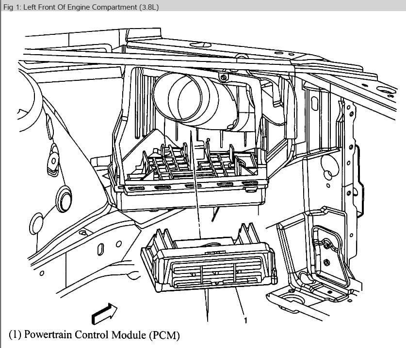 Pontiac Grand Prix 3 8 Base giving code U0107, TAC has no reference