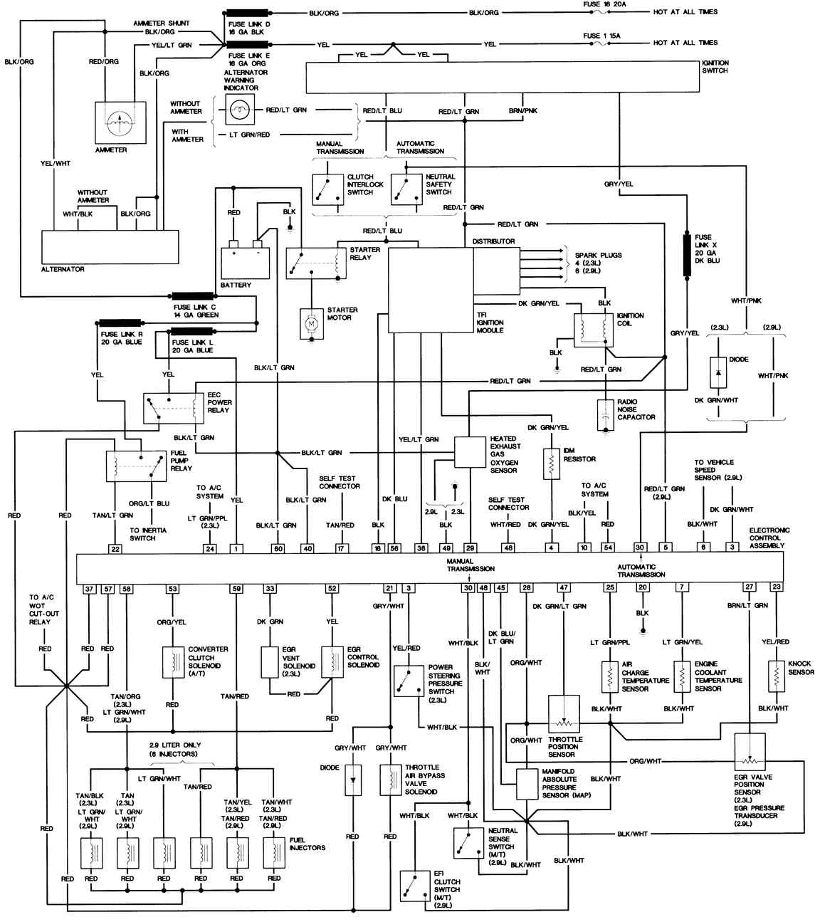wiring diagrams for 1987 ford ranger 2 9 v6