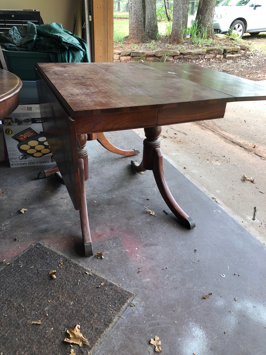 Duncan Phyfe Style Drop Leaf Table Purchased Old Table From Charity Sale I Need Info On Possible Value And Age
