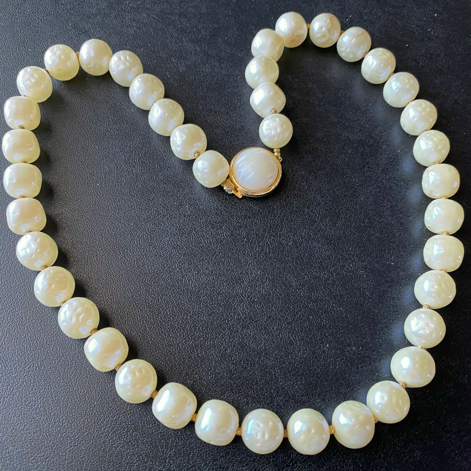 Signed CROWN TRIFARI Lucite Baroque Pearl Bead Necklace.jpg