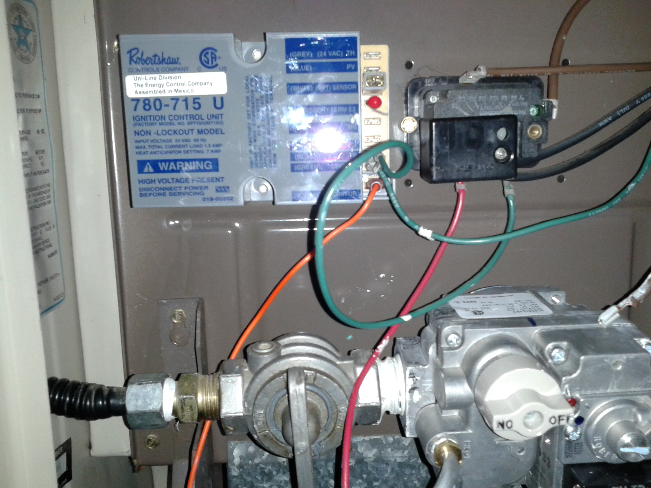 furnace wiring diagram g q e on how do i wire a robertshaw #712-016  ignitor to a lennox #g12q3e
