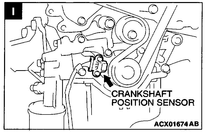 2002 Mitsubishi Montero Ltd Cam Crankshaft Position Sensor
