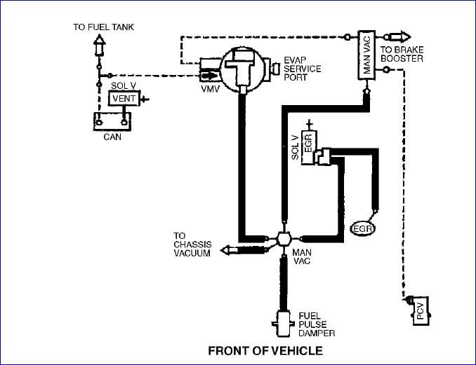 mazda tribute vacuum hose diagram