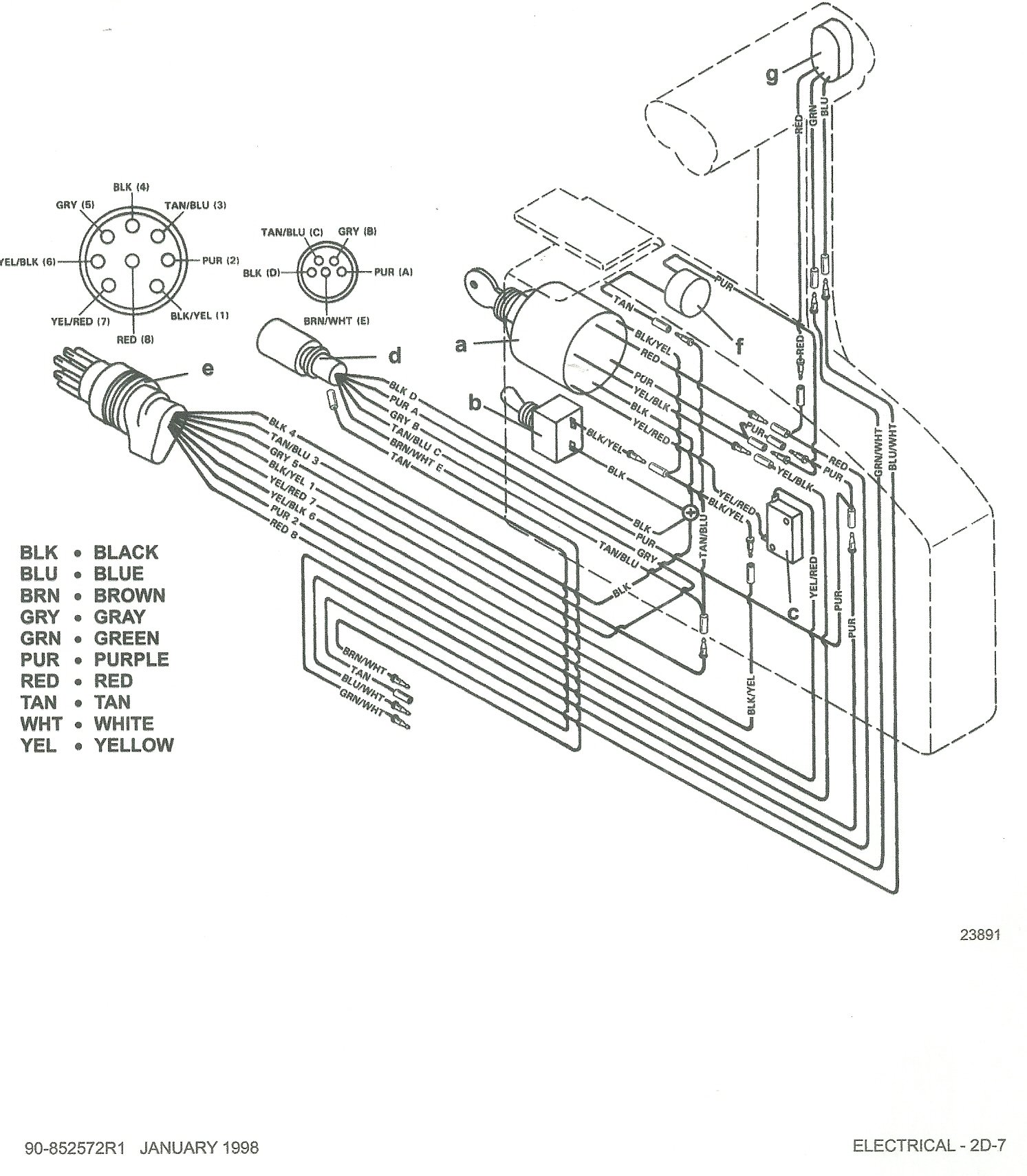 mercury marine wiring diagram 1998  u2022 wiring diagram for free