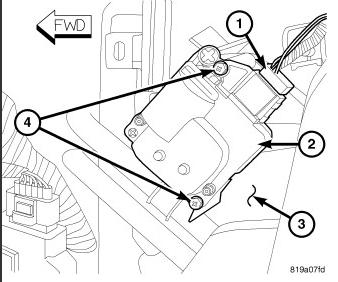 2000 dodge intrepid blend door actuator location