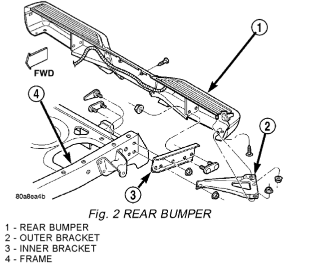 looking to replace my rear bumper on my 2003 dodge dakota
