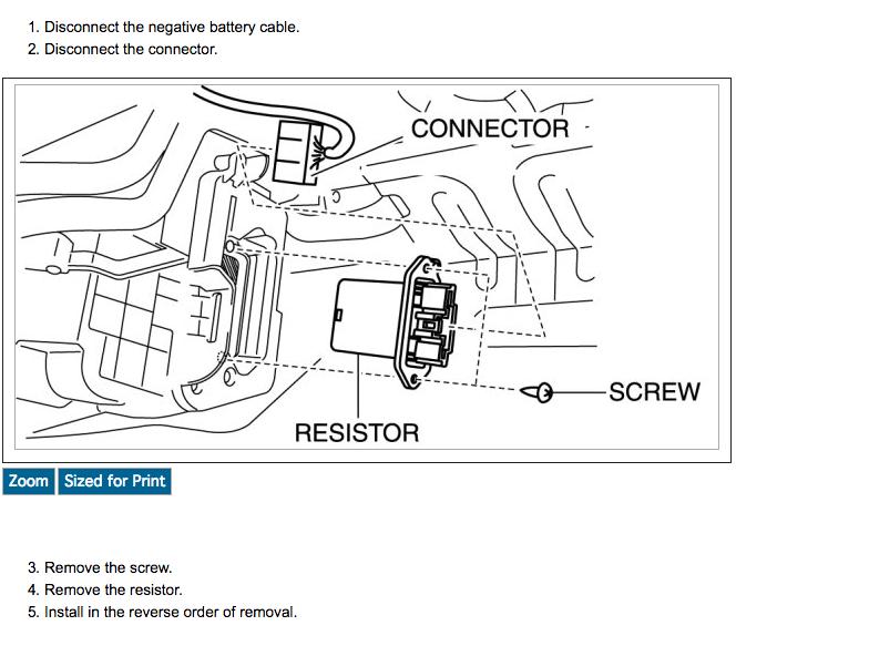 blower motor resistor 2011 mazda 3 sedan 2 0 trying to do it