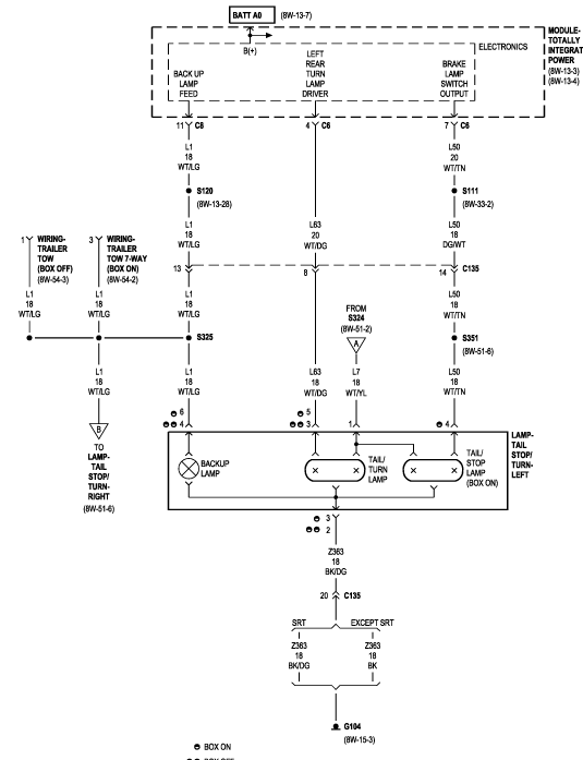 Need Tail light wiring diagram for 2006 Dodge Ram 1500. Need to know  specifically which wire is the reverse light.JustAnswer