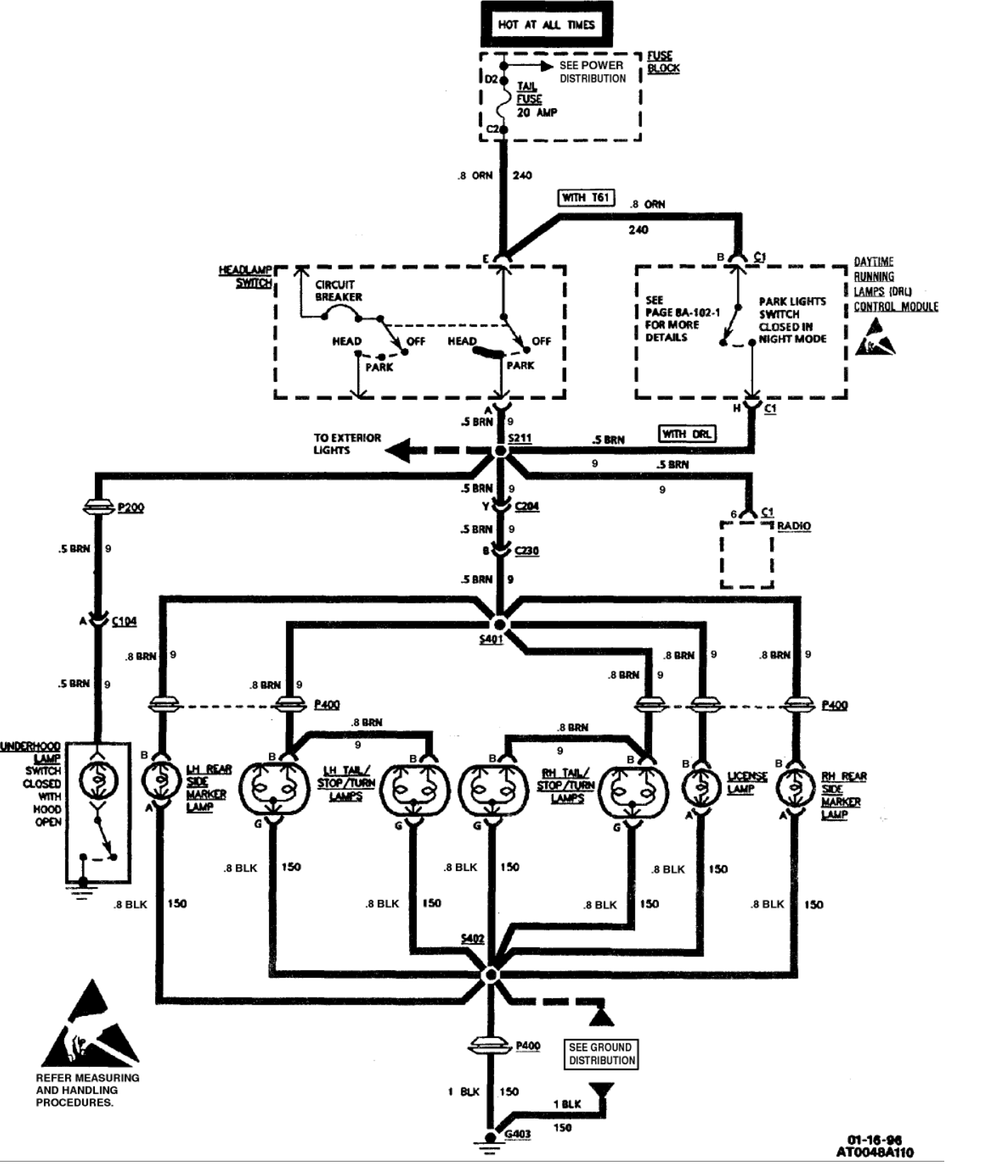 Do You Have A Wiring Schematic For A 1996 Oldsmobile Cutlass Ciera Sl With A 3100 Sfi V6 Engine