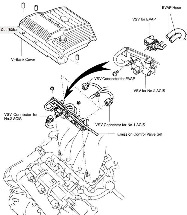 2001 Toyota Avalon Knock Sensor Location