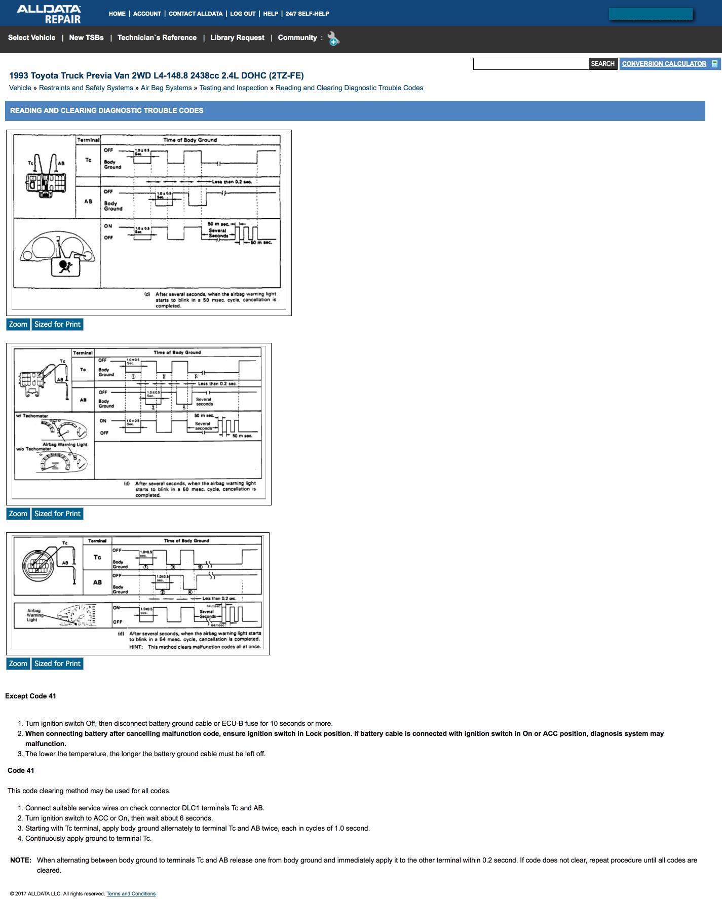 Lexus Airbag Code B1650 ✓ Lexus Car