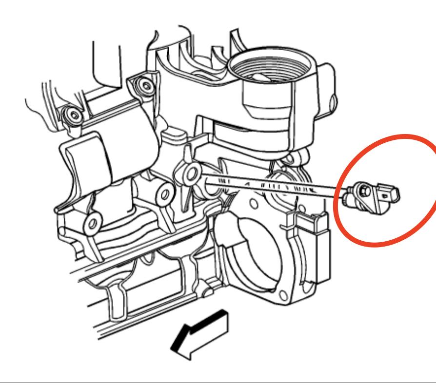 2007 pontiac g6 3 5 crank sensor location