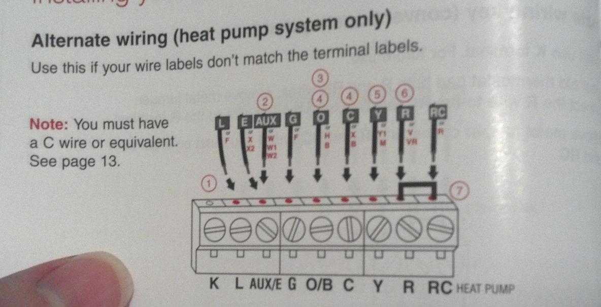 american standard heat pump thermostat wiring diagram wiring
