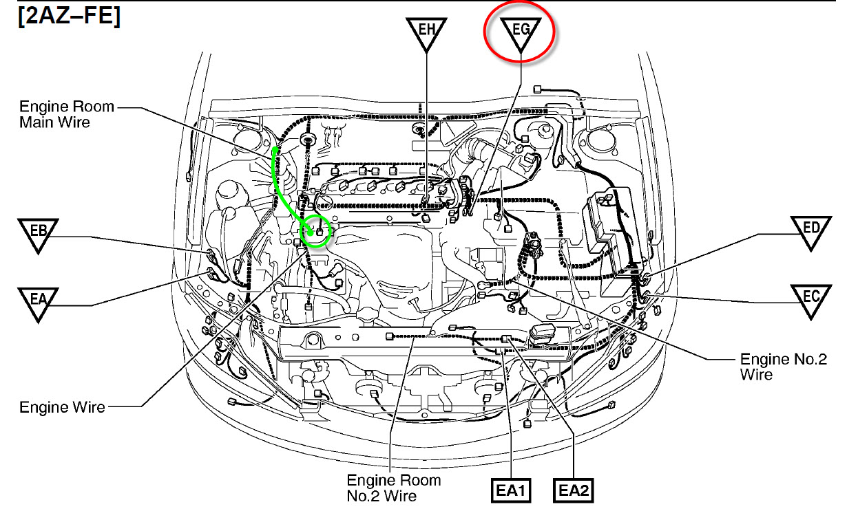 2012 Toyota Camry Wiring Harness Repair 39 Diagram Images 2001 10 11 170747 Grounds I Recall Recently Replaced The Cylinder Head Gasket On My 2003