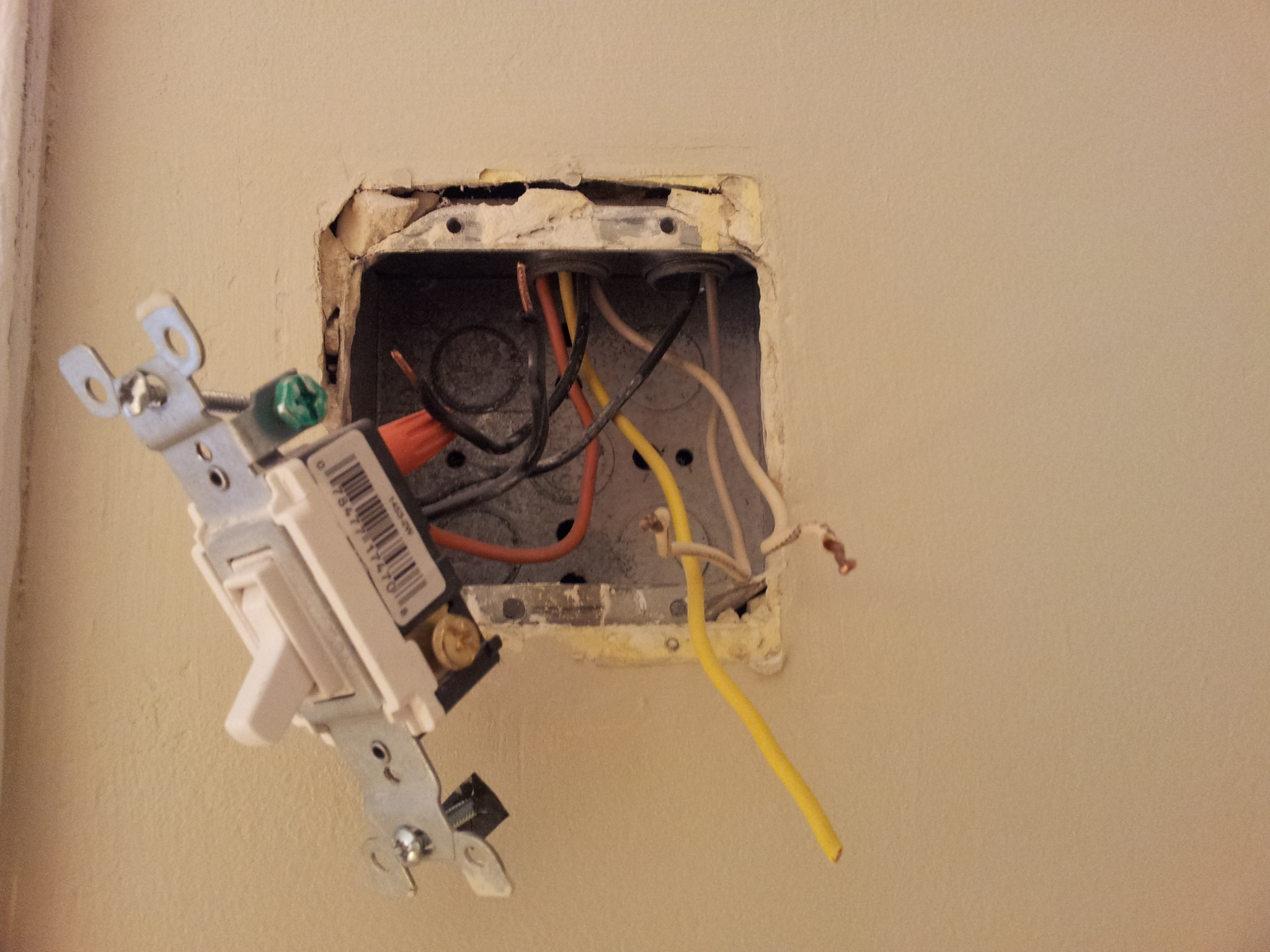 Bathroom Wiring Is All Messed Up  Light Stays On Constantly And I Cannot Figure Out What The