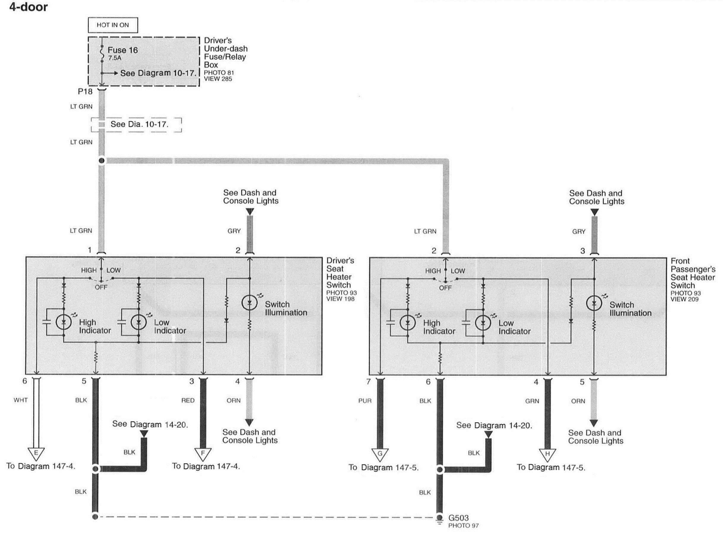 Where Can I Get Wiring Diagrams For Power Seat Plug And Heater Switch Replacing Manual Seats With Heated Power Seats