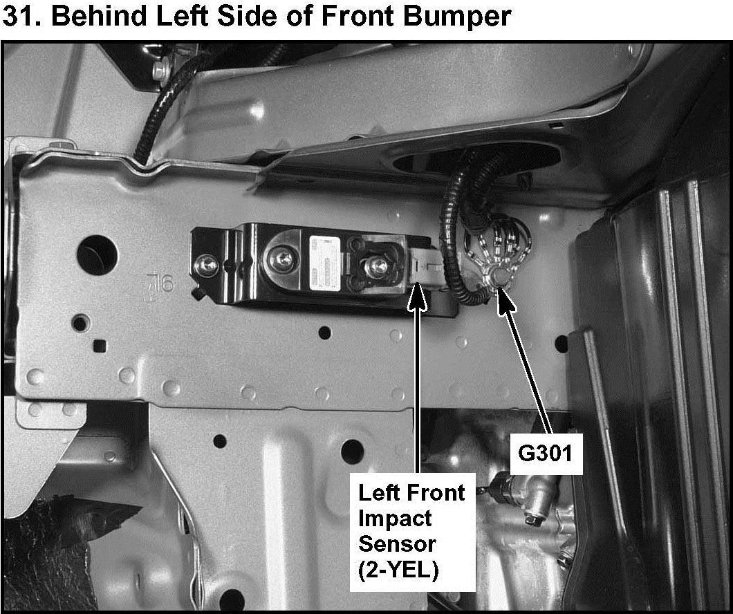 Honda honda cr-v 2005 : 2005 honda crv left front airbag sensor location?