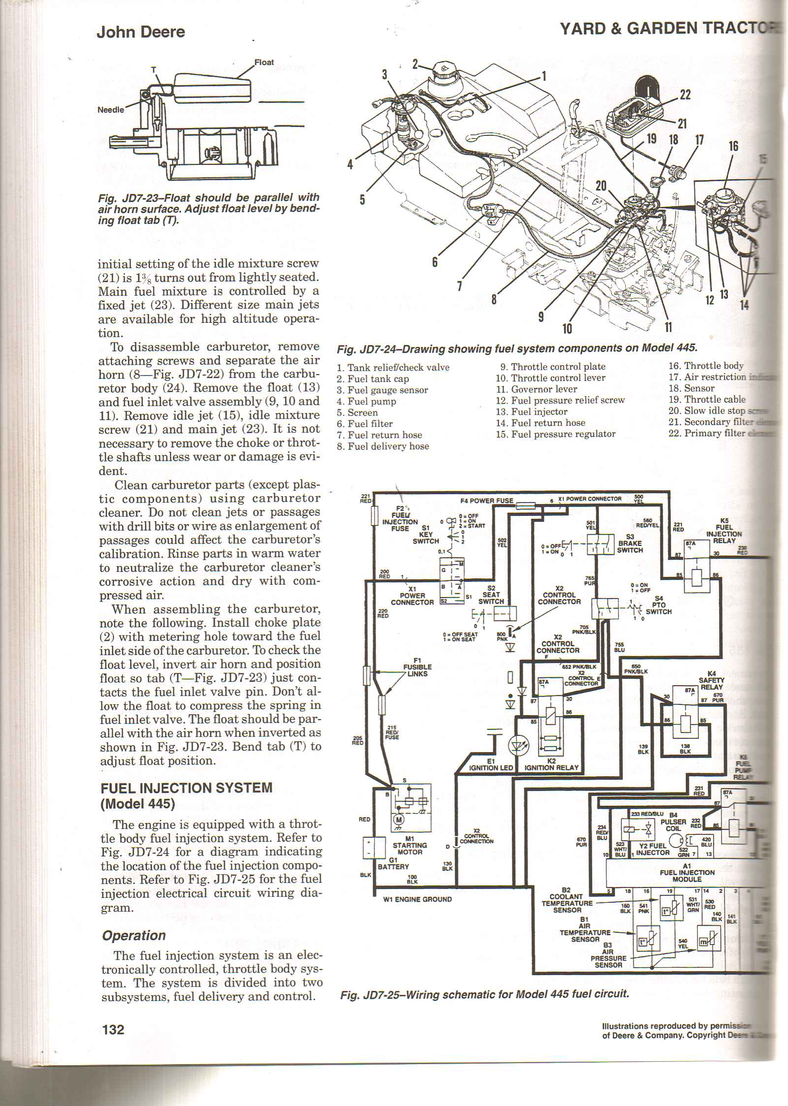 445 john deere ignition wiring diagram wiring diagram. Black Bedroom Furniture Sets. Home Design Ideas