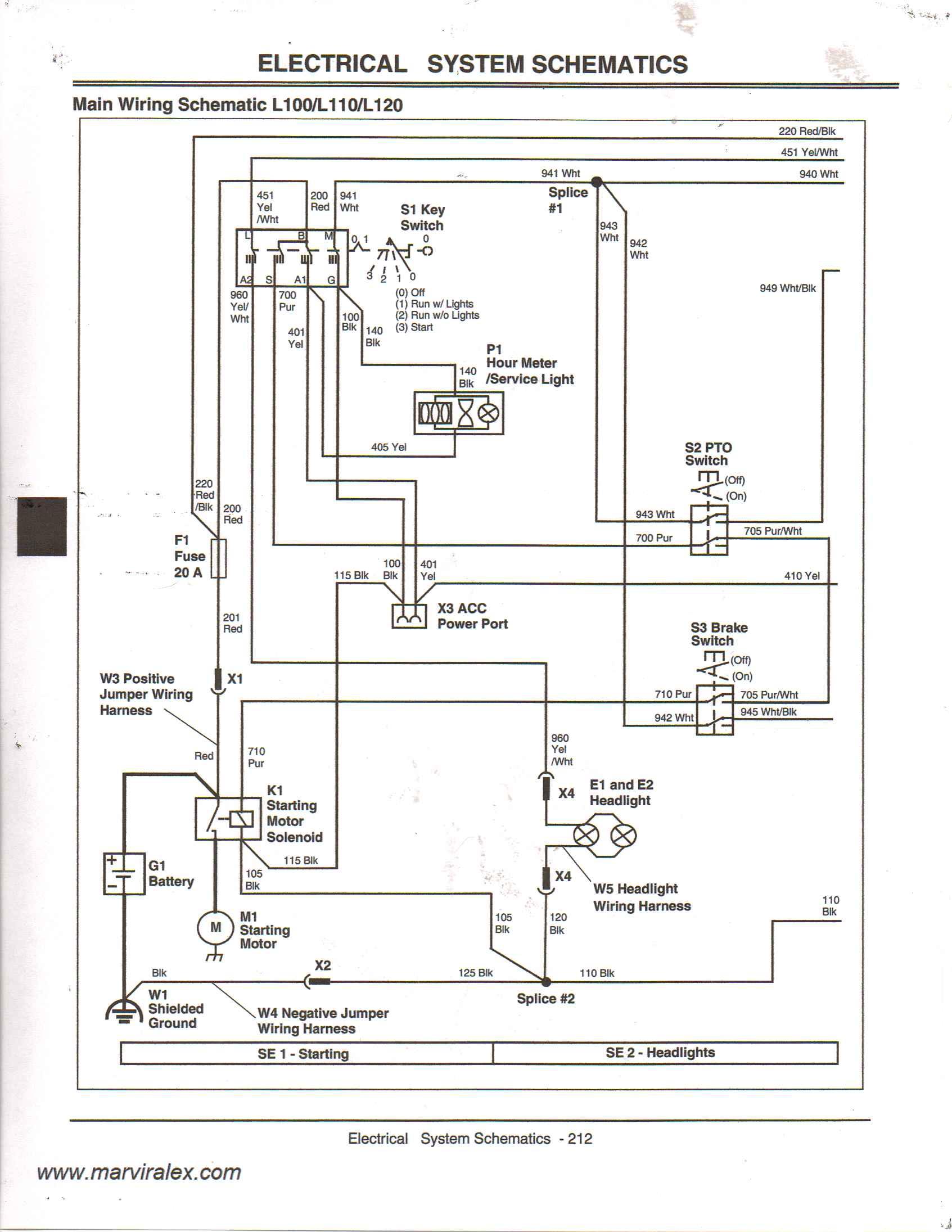 John Deere L110 Wiring Schematic - Today Diagram Database on