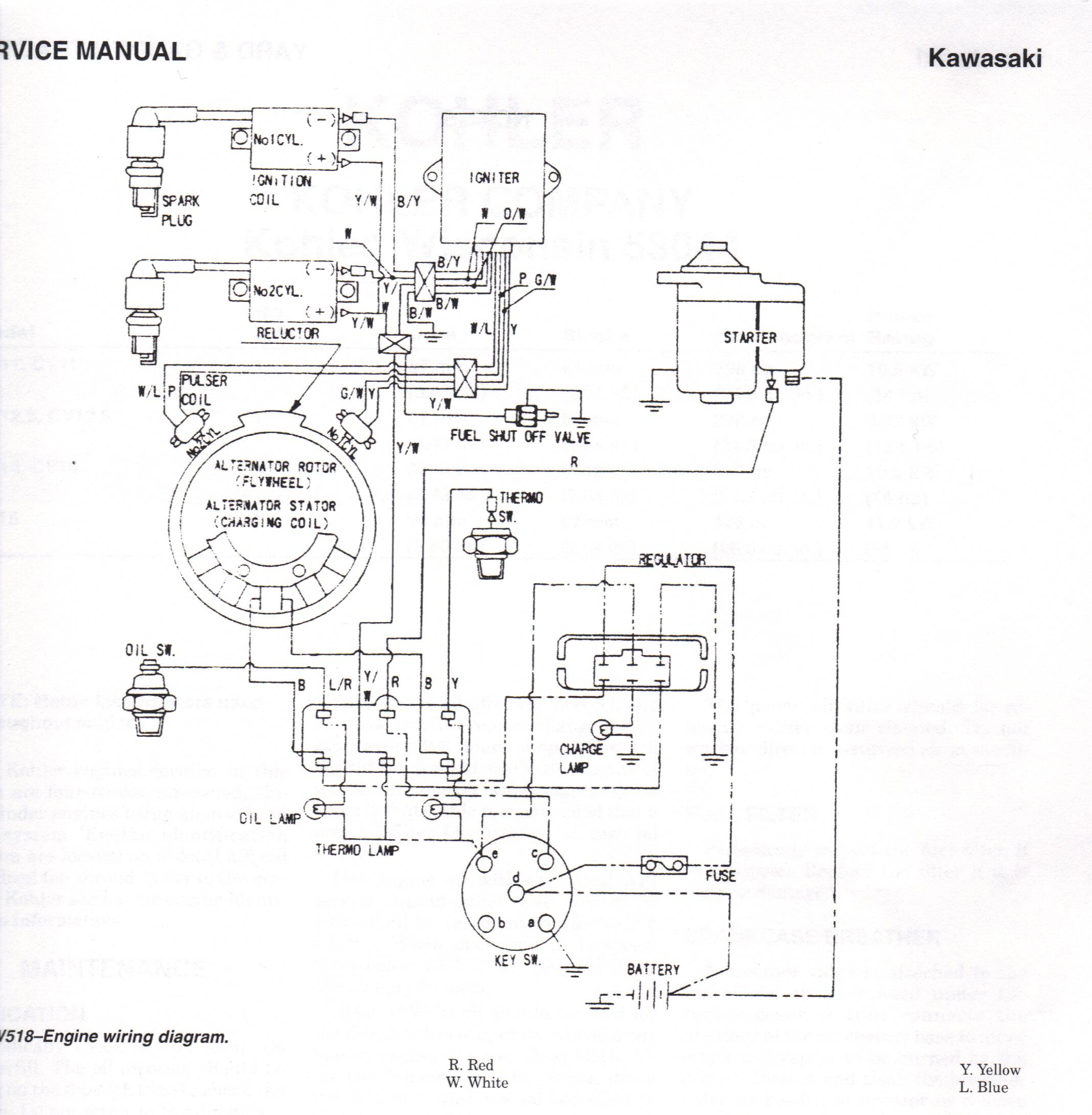 have jd 345 with kawasaki fd590v engine back fired when last rh justanswer com Kawasaki Electrical Diagrams Kawasaki Electrical Diagrams