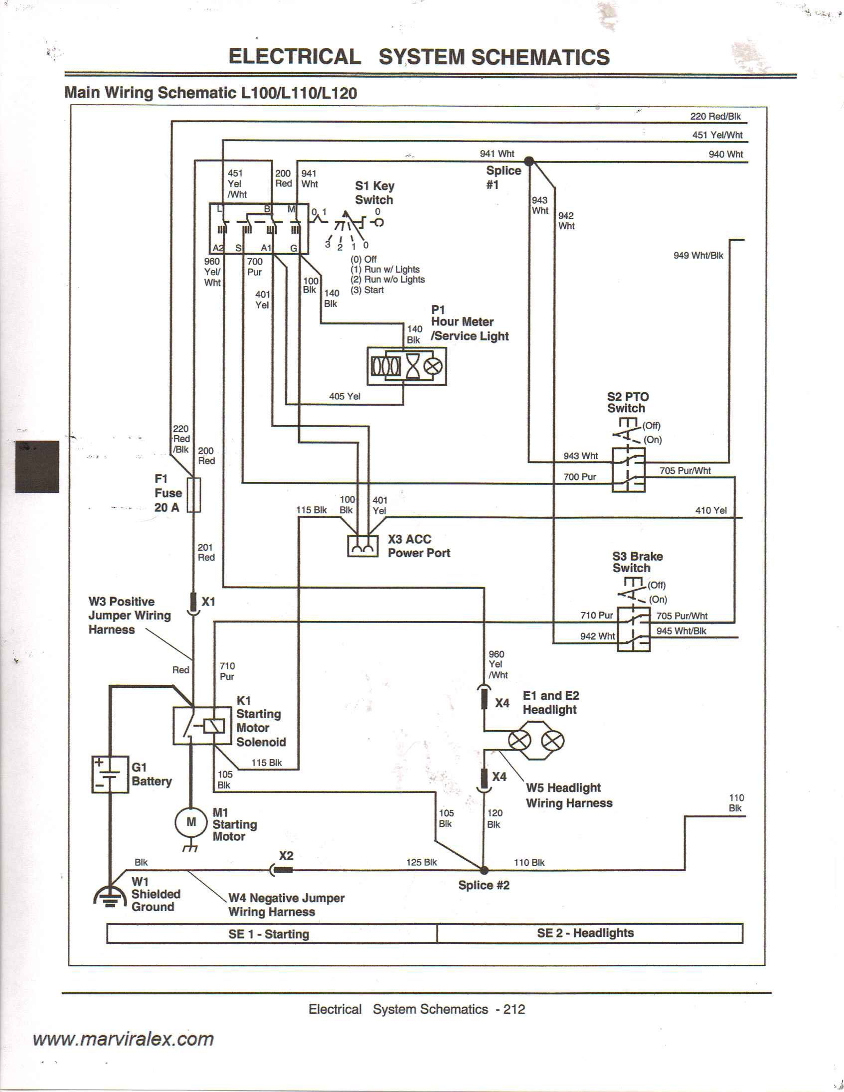 my deere l100 lawn tractor will not start i found some of the rh justanswer com john deere 430 wiring diagram john deere 420 wiring diagram tack