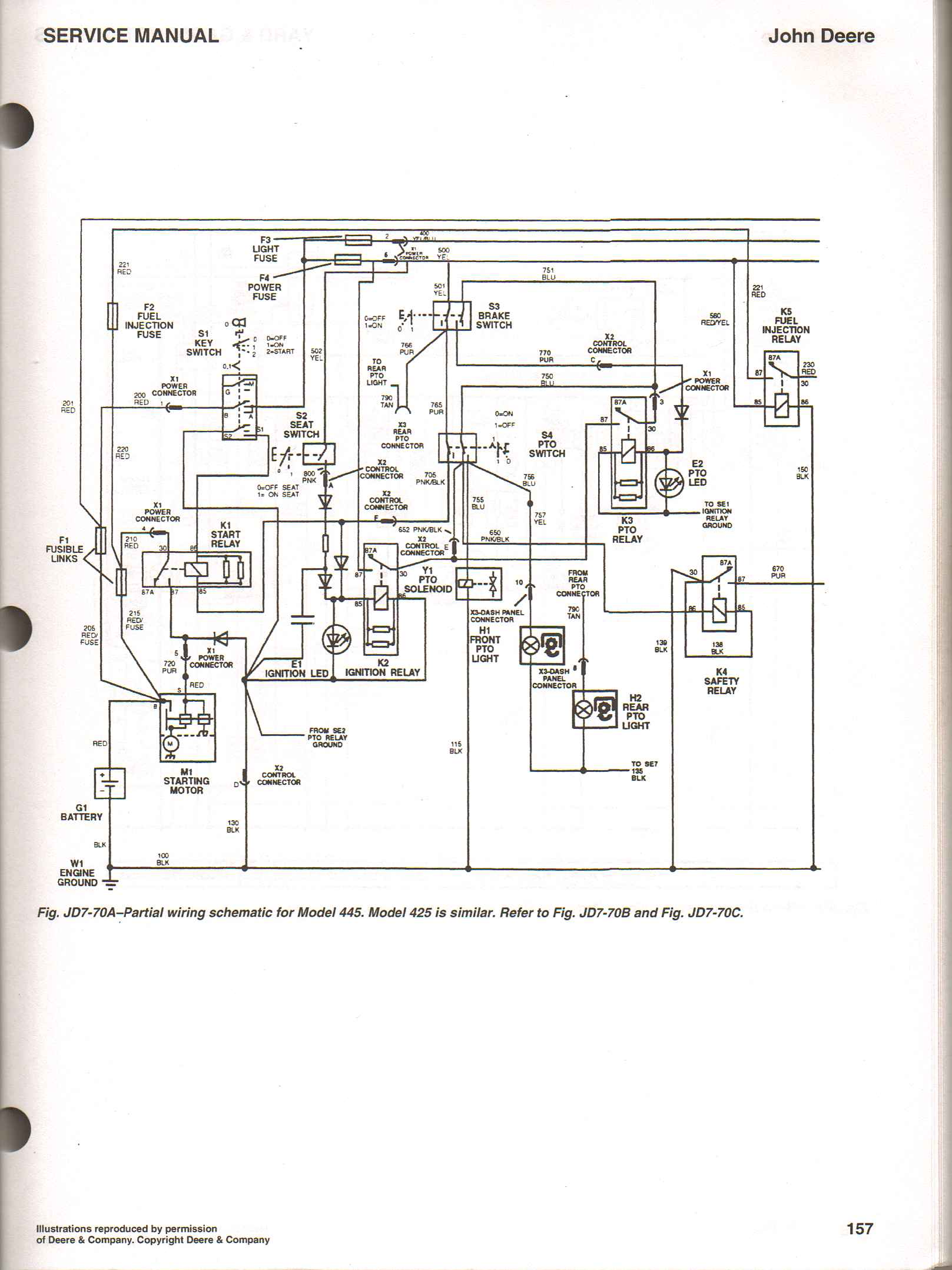 John Deere 6430 Wiring Schematic Diagram Schematics 330c Lc Fuse Box I Have A Tractor Model 425 Was Having Trouble Starting It Ignition Switch