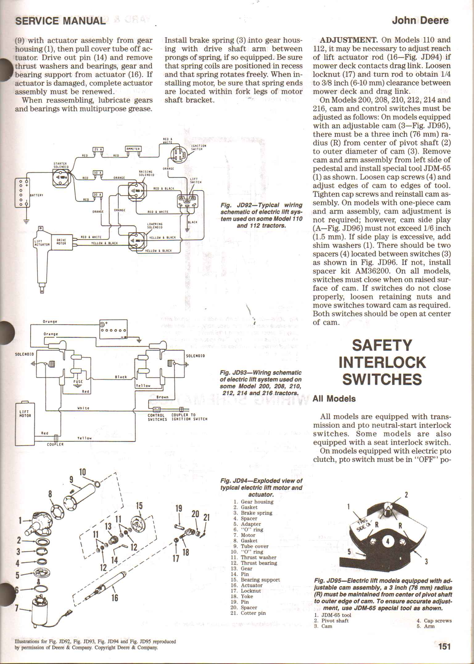 Wiring Diagram For Jd 112l Lawn Tractor W  O Electric Lift