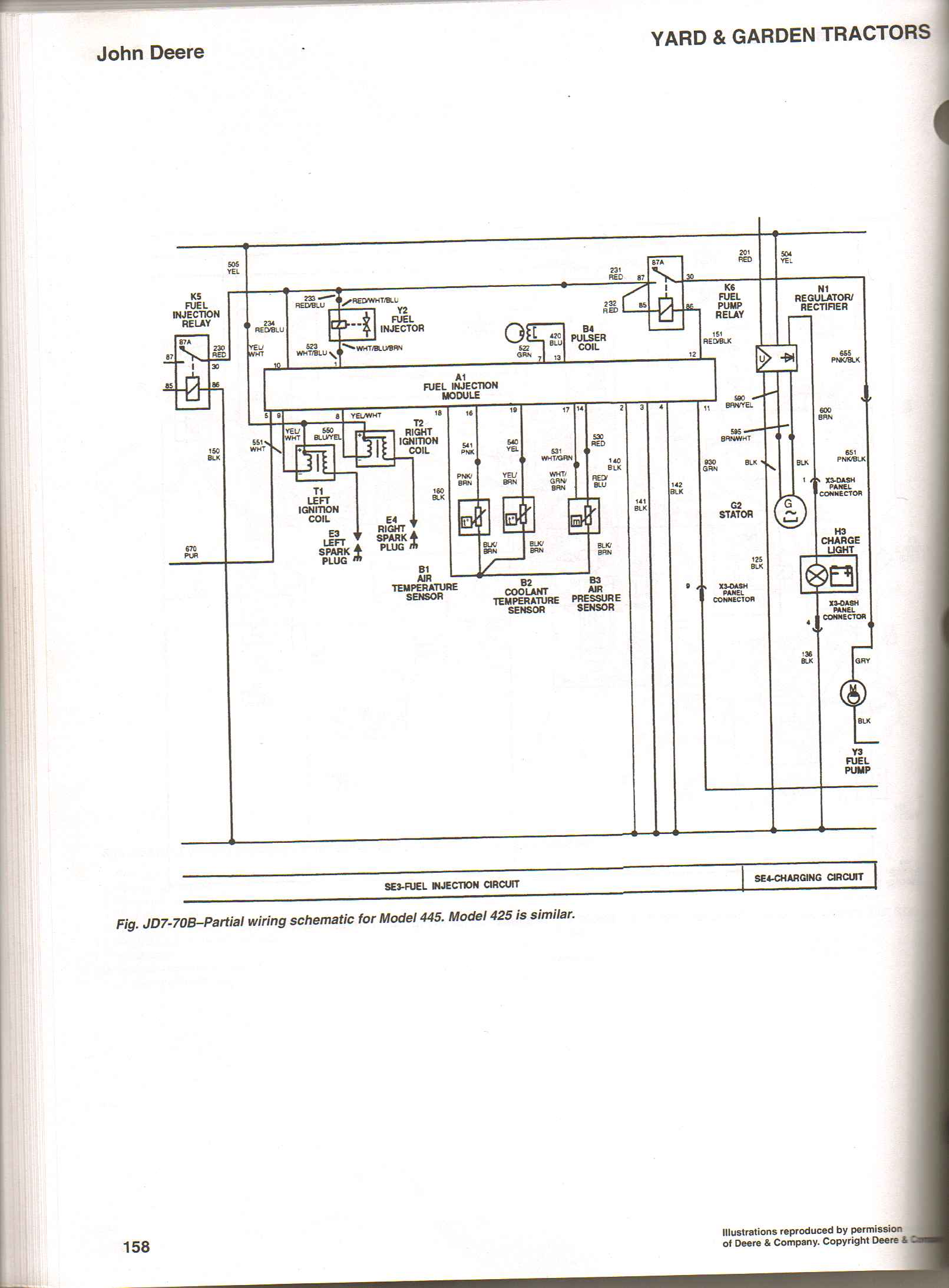 john deere gx85 wiring diagram i ave a jd 425 whose fuel pump with key off and out of the  i ave a jd 425 whose fuel pump with key off and out of the