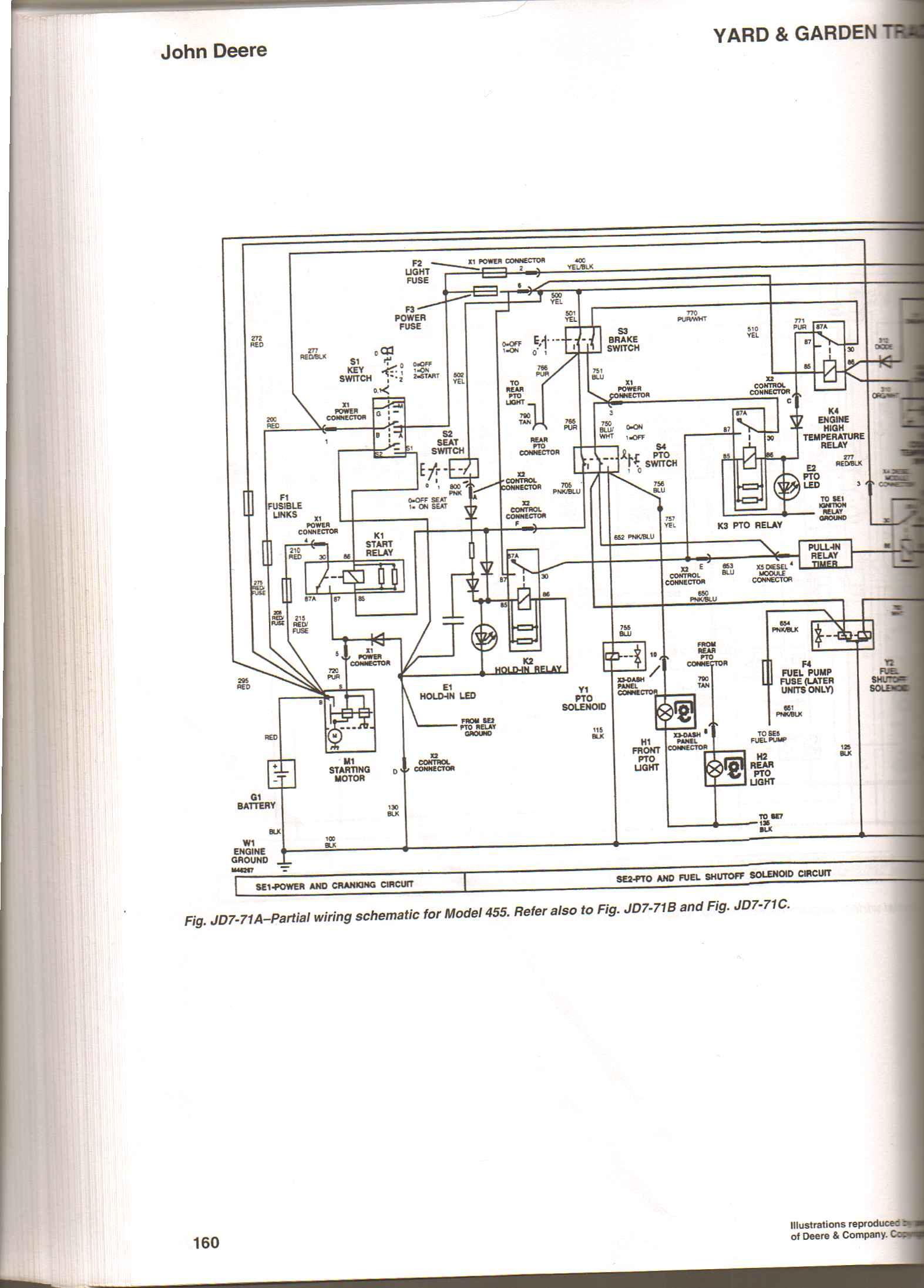 John Deere 455 Wiring Diagram Libraries Tractor Harness Connectors 445 Garden Third
