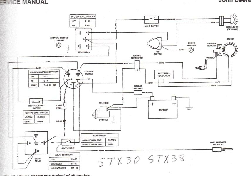 John Deere Starter Relay Wiring Diagram Wiring Diagram And Fuse – John Deere 5103 Wiring-diagram