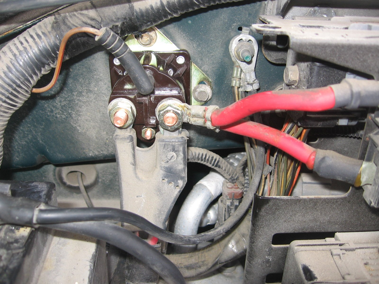 starter problem? 1998 f150 4x4 w 4 6l triton yesterday, my wife got Motor Starter Wiring Diagram attached is a picture of the wiring for the solenoid i believe it is correct solenoid