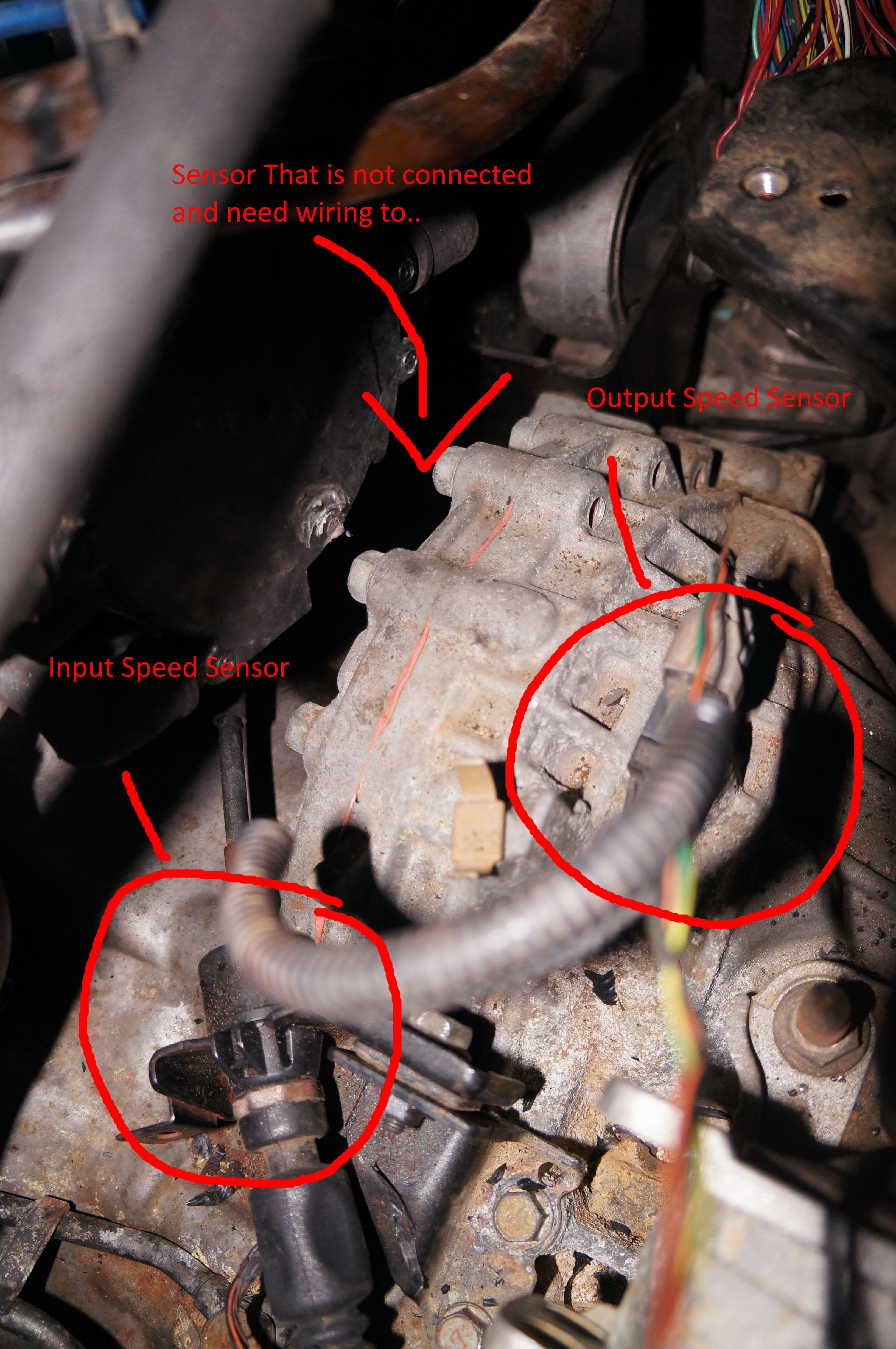 2003 Mitsubishi Eclipse GTS Input Turbin Speed Sensor, Which wires connect  to this sensor? This is the code i get from aJustAnswer