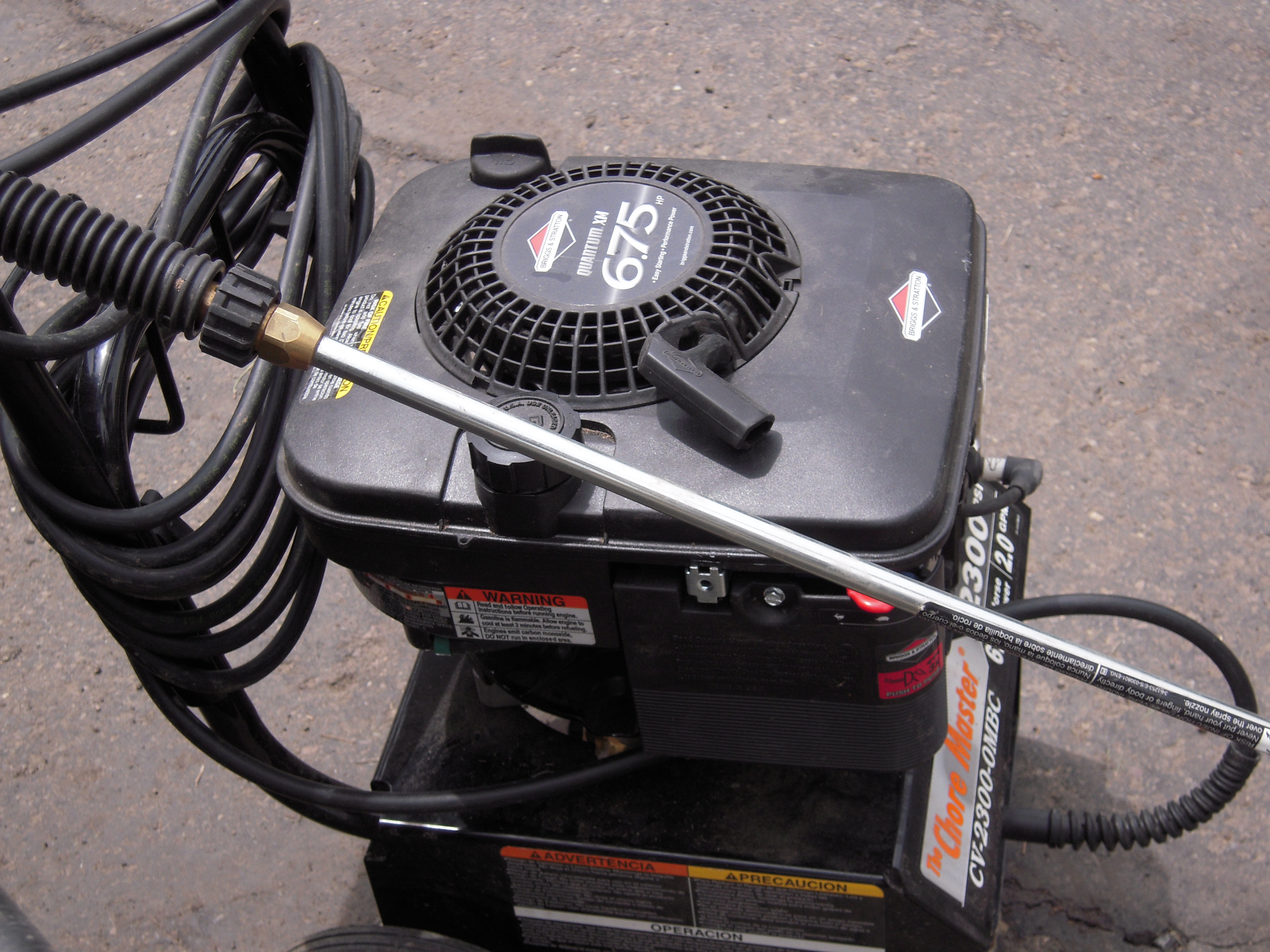 I have a Chore MAster CV-2300-OMBC with a Briggs & Stratton