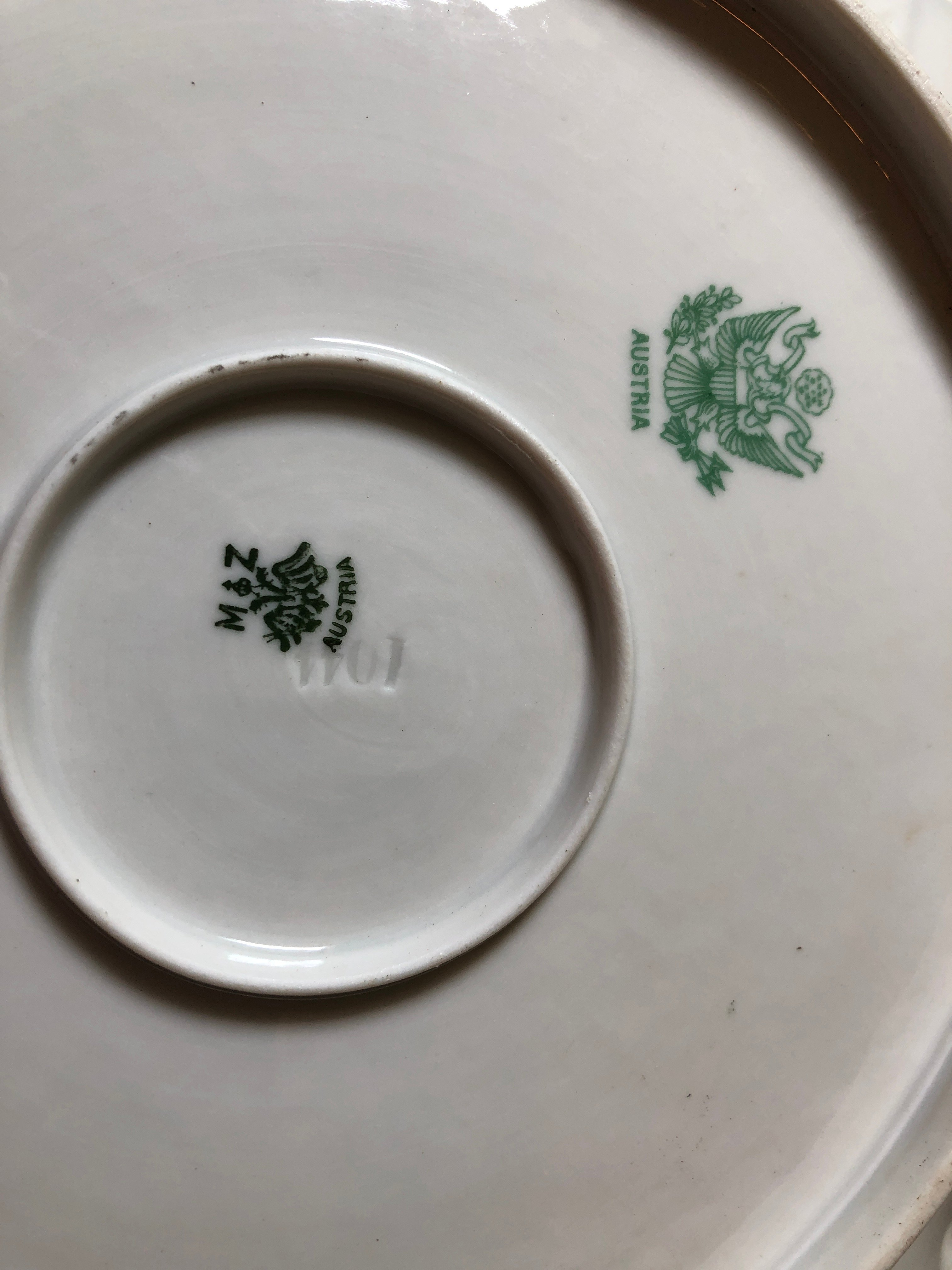 I have a plate set with double MZ Austria marks that I believe are