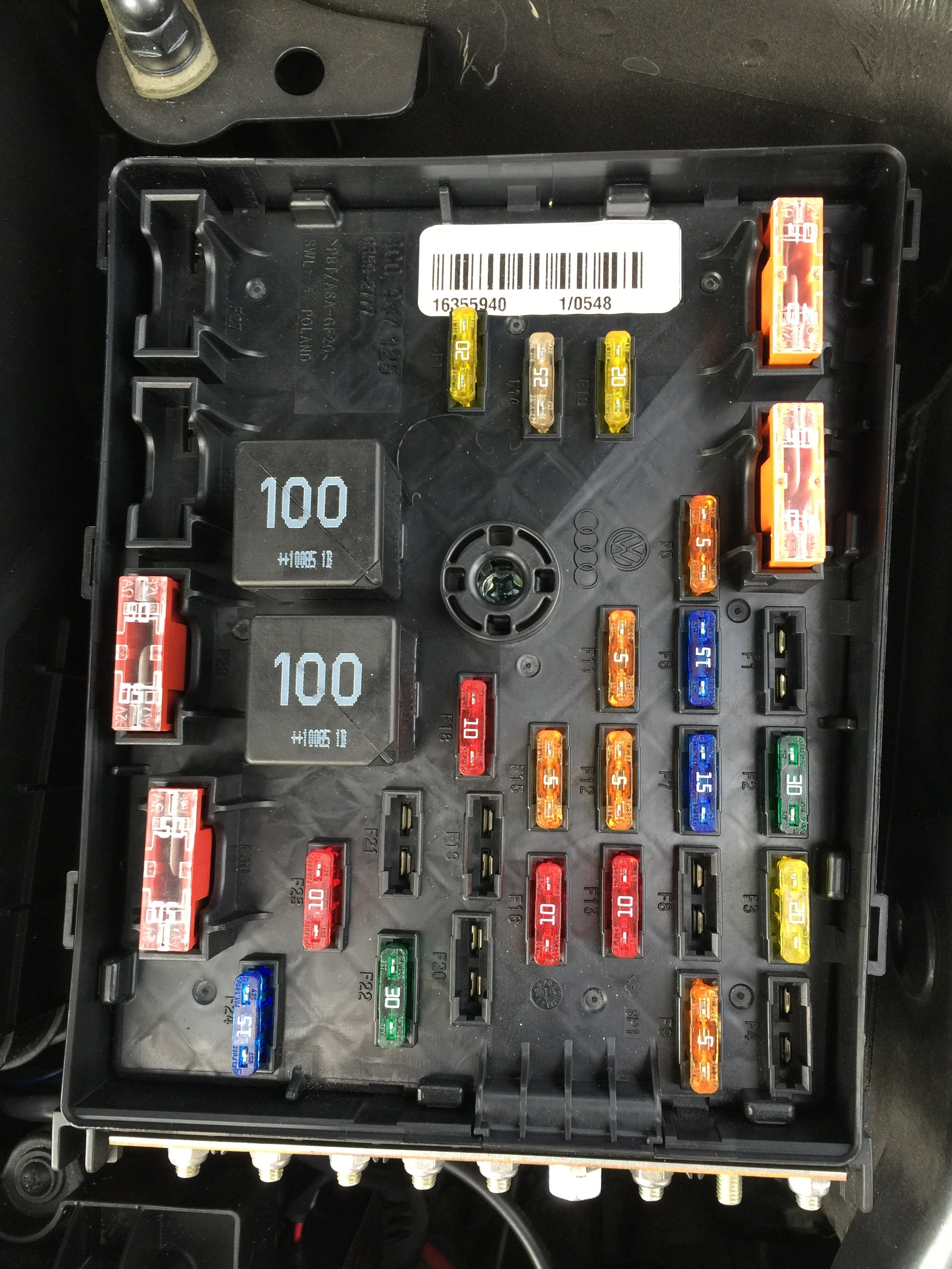 Vw Tiguan 2011 Fuse Box Diagram