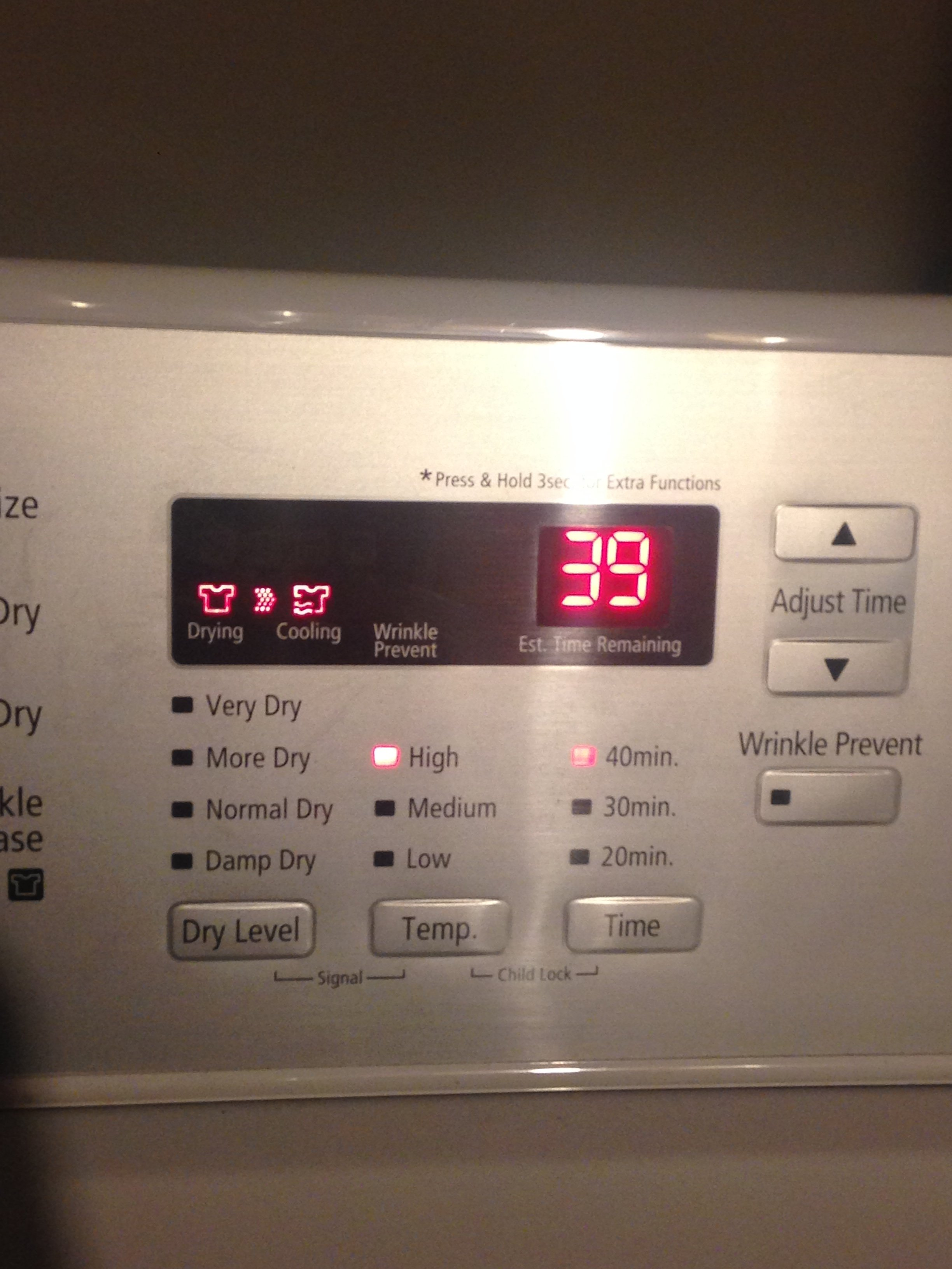 Samsung dv422 electric dryer no heat stuck in cooling mode