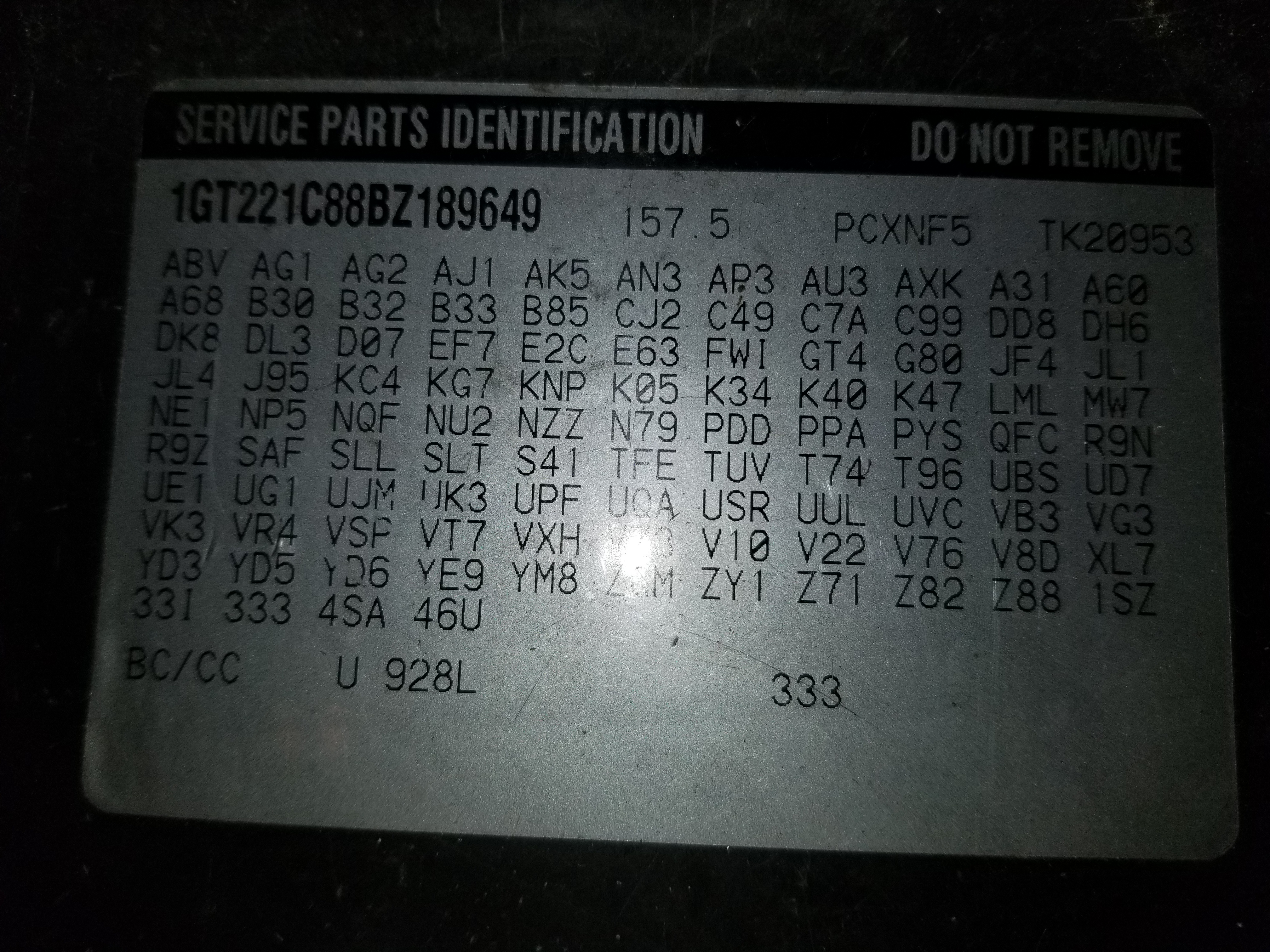 Looking to find terminal E and F on a EBCM for a 2011 GMC