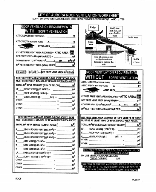 Attic Ventilation Calculations Expert Gaf Owens Corning Websites