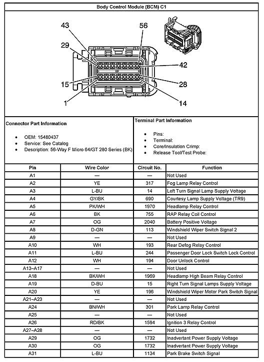 Hummer H3 Bcm Wiring Diagram