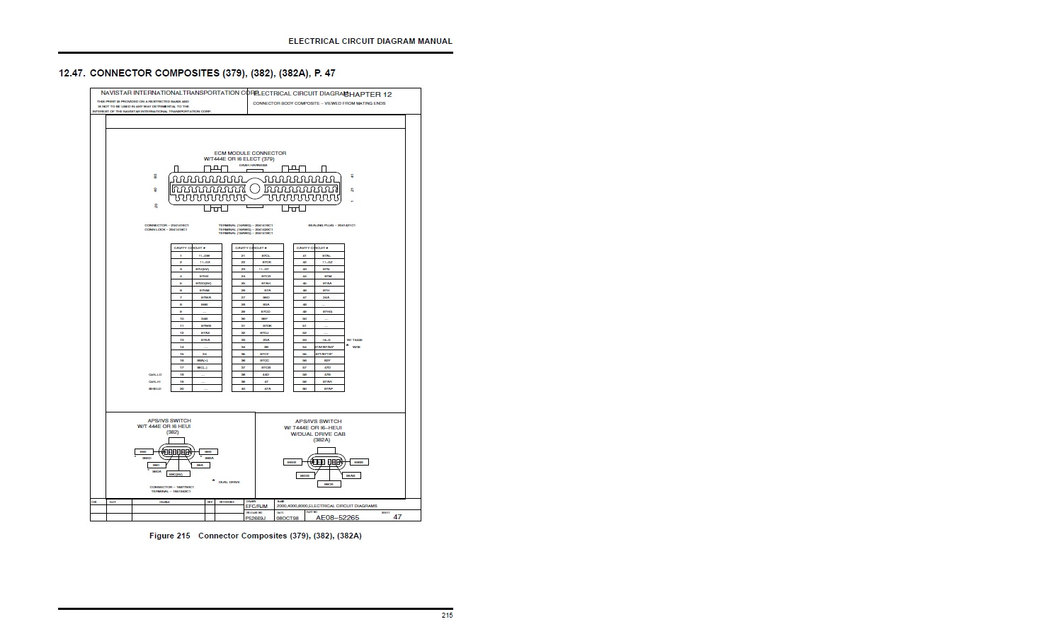 7 3 1999 international dt530 code 333 starts and runs until codes sets  on sterling air switch diagrams navistar ecm wiring