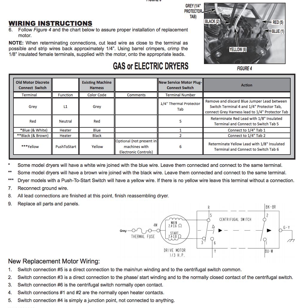Maytag Dryer Dg410 Wiring Schematic Refrigerator Atlantis Washer Diagram Diagrams What Are The Overhead Electric Model Lde5004acw Ordered Motor It Came With On
