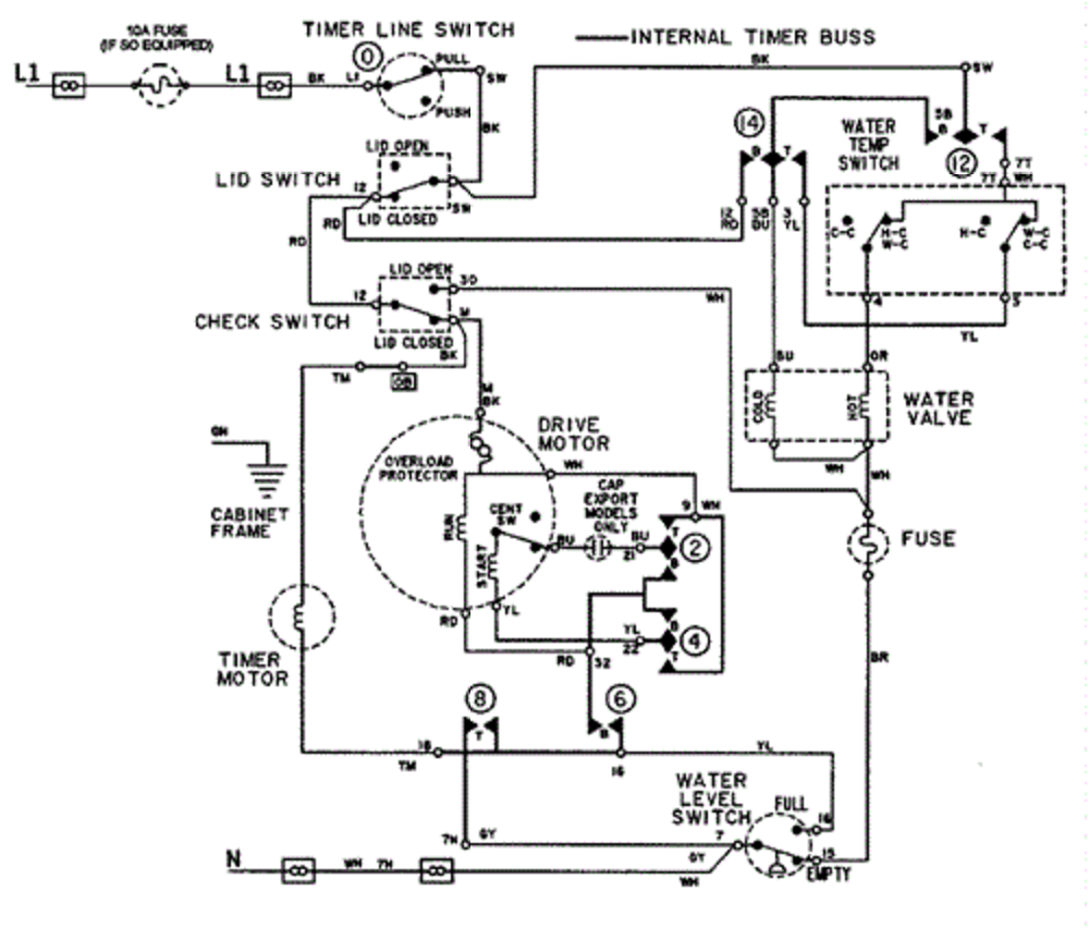 Laundry Timer Wiring Diagram Manual Guide. A Maytag Washer Model Lat5006aae I Am Looking For The Wire Diagram Rh Justanswer Wiring An Le8n Timer 11 Pin Relay. Wiring. Pool 9 Wire Motor Wiring At Scoala.co