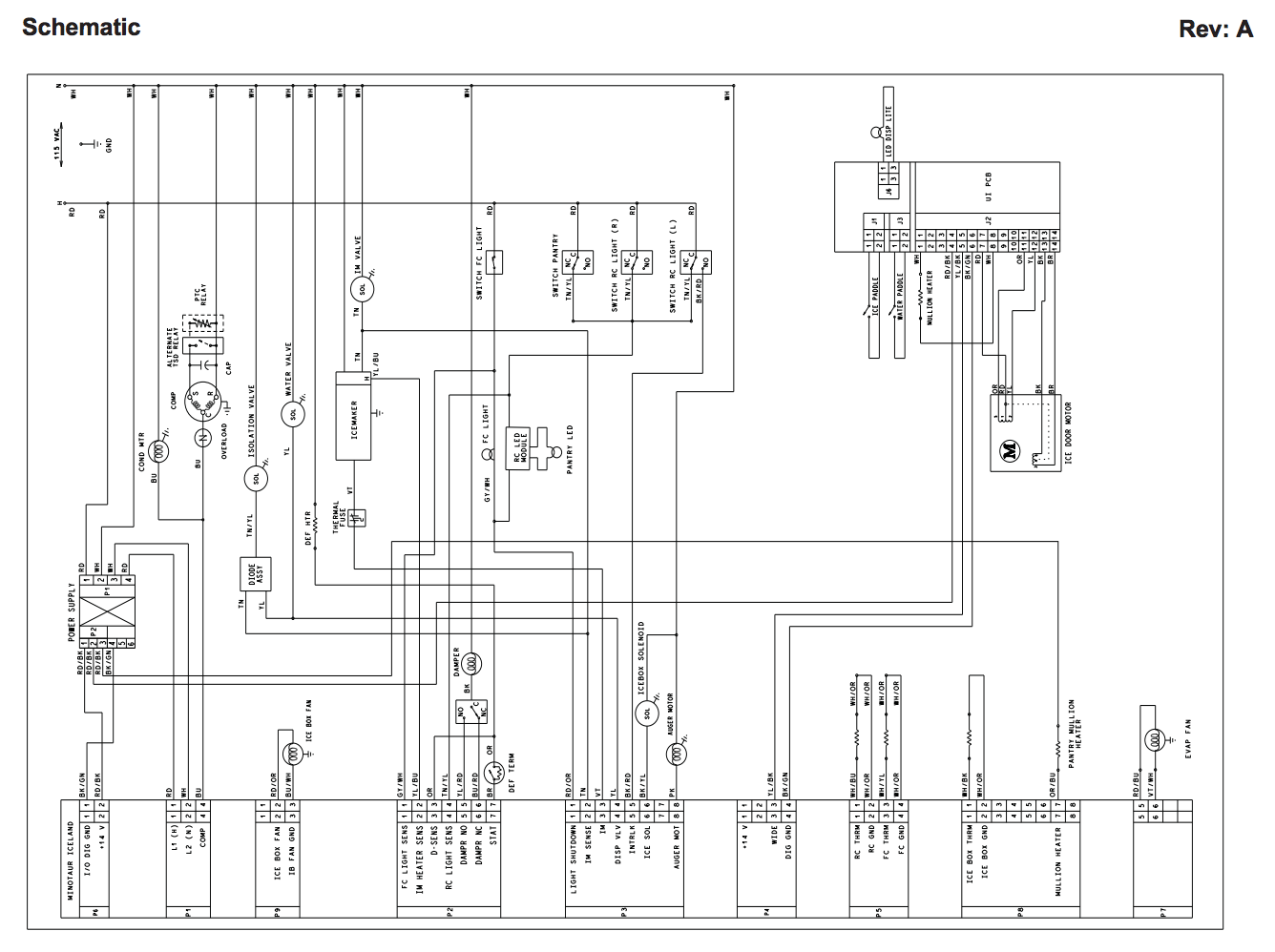 I Need A Wiring Diagram For A Kitchenaid Refrigerator