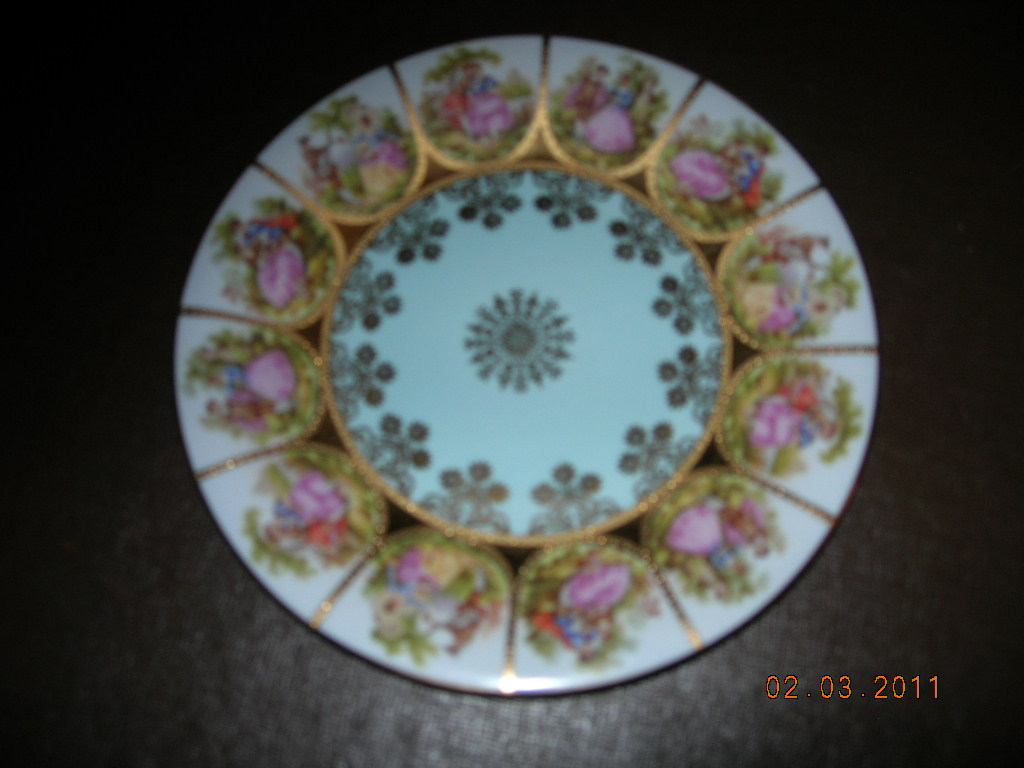 I Have Two 19 Inch Alt Wien Plates Each With A Blue Beehive Stamp