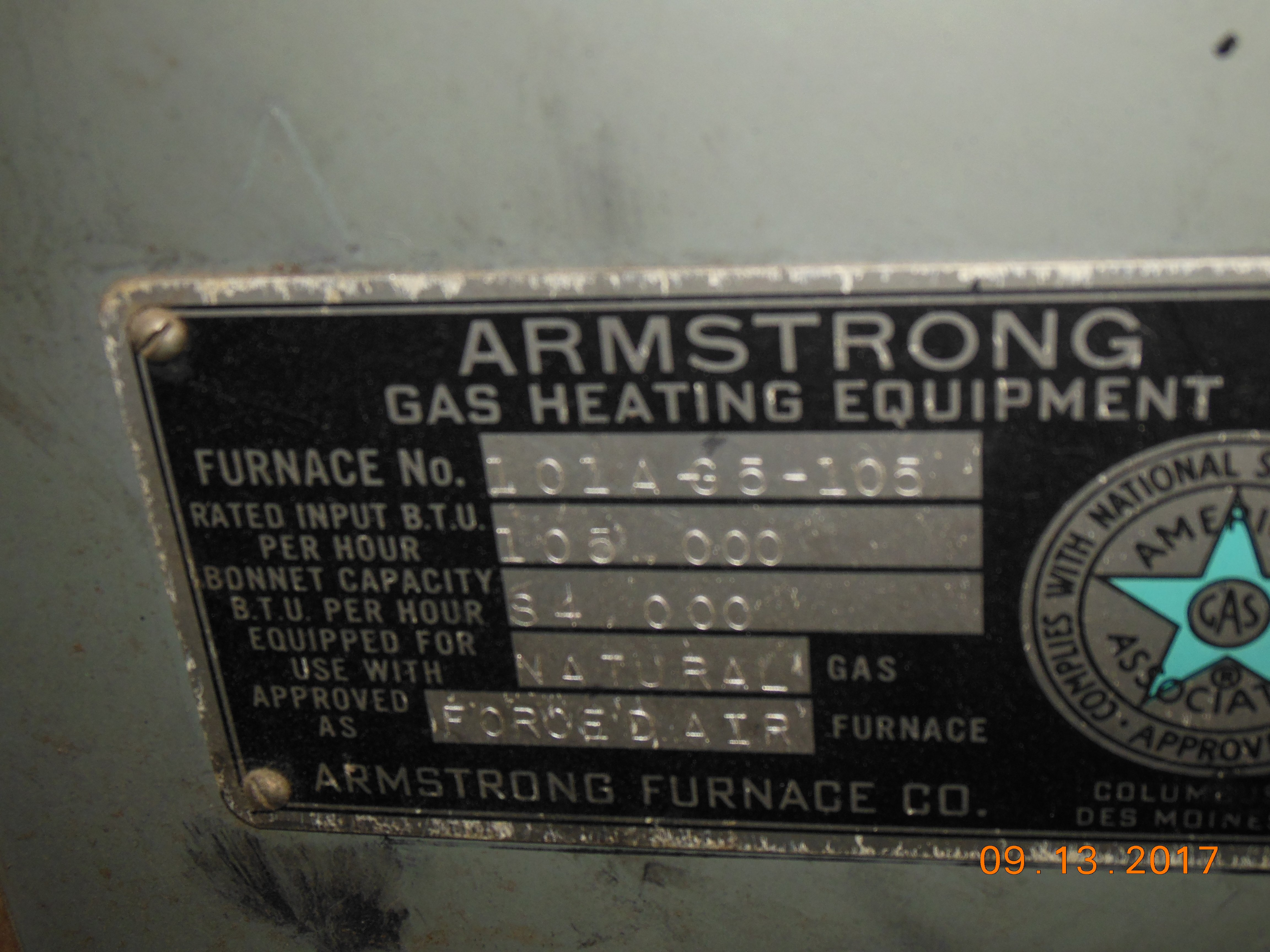 Have An Old Armstrong Furnace Model Number 101a Manual Guide