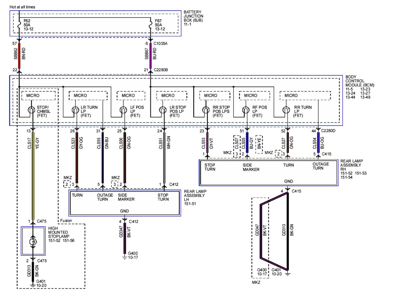 Diagram  2009 Lincoln Mkz Wiring Diagram Full Version Hd