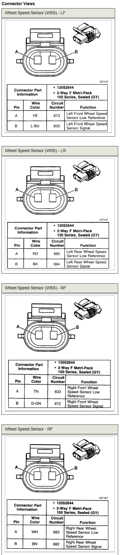 Abs Wheel Sensor Diagram | Wiring Diagram on