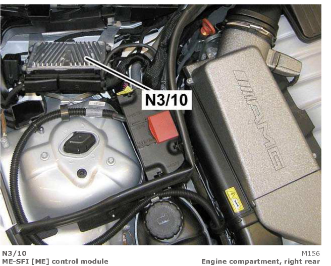 Where is the radiator fan control module on a 2008 merdedes c300