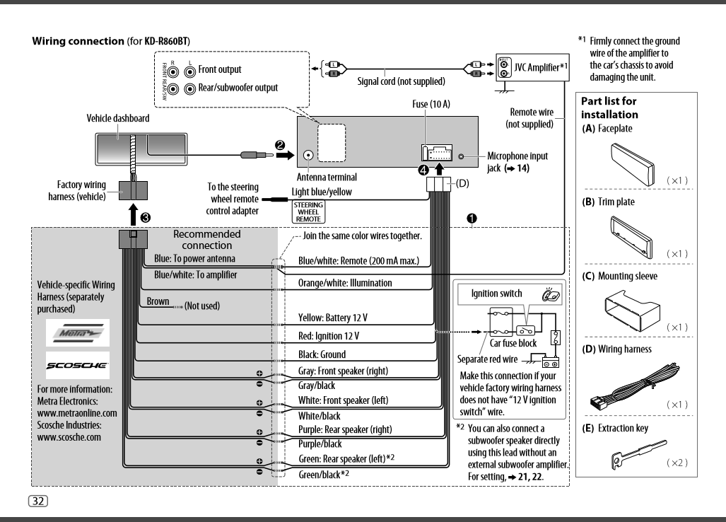 Jvc Kd Sr83bt Wiring Diagram