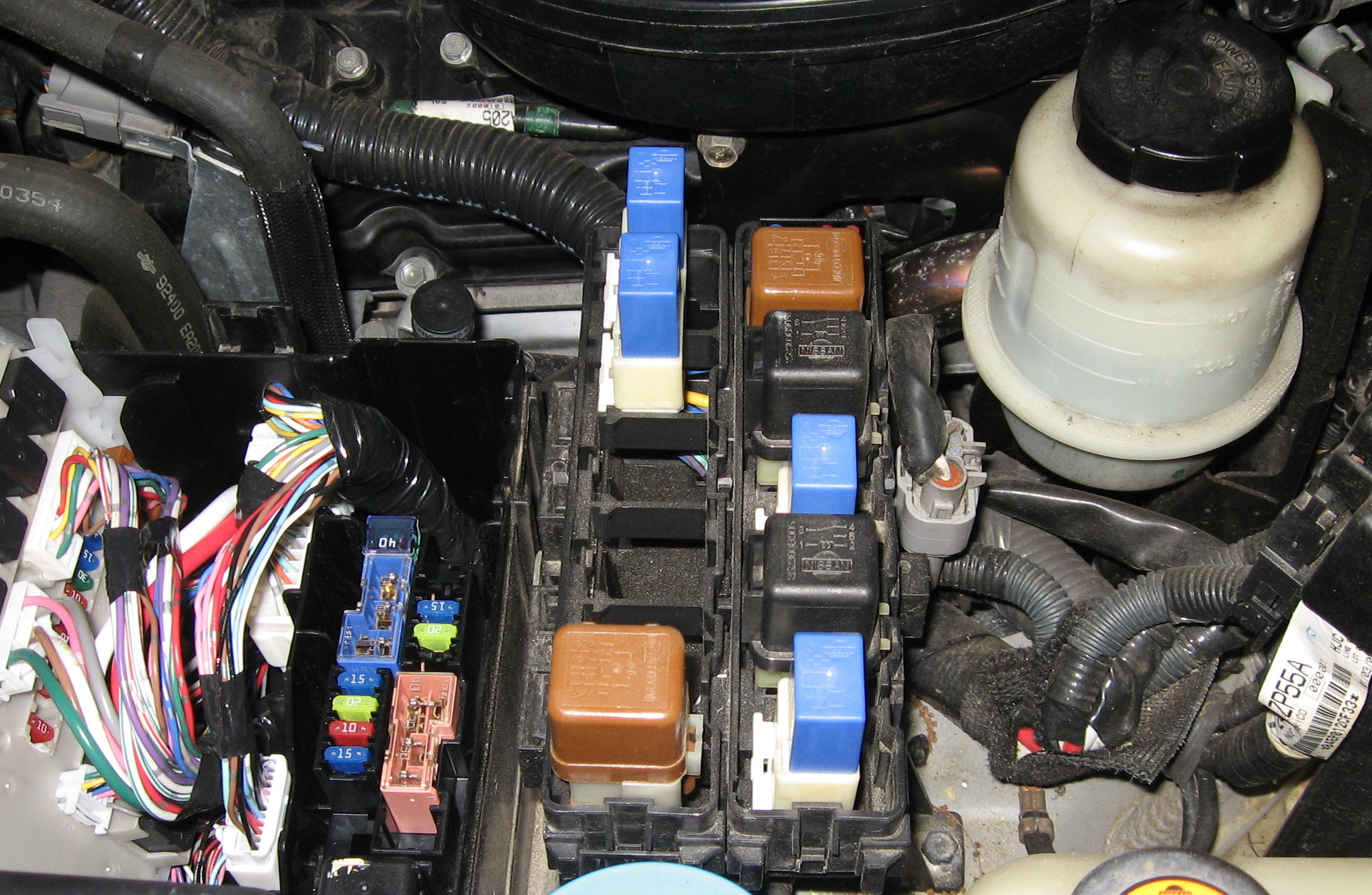 2007 Nissan Frontier installed a four pin wiring harness for a
